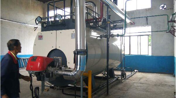 温州市第一台低氮改造天然气锅炉顺利
