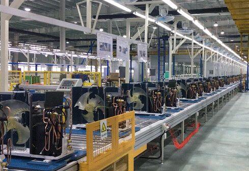 长虹空调新能效产品顺利下线,能效比值高于新国标